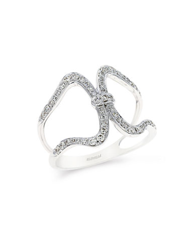EFFYPave Classica 14K White Gold and Diamond Ring