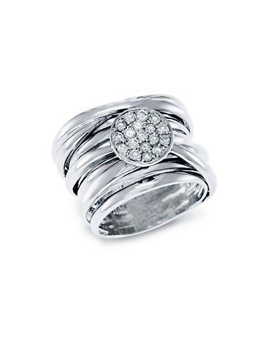 EFFY Diamond And 14K White Gold Stacked Ring