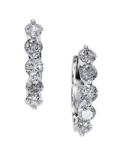 EFFYDiamond And 14K White Gold Hoop Earrings, 1.47 TCW