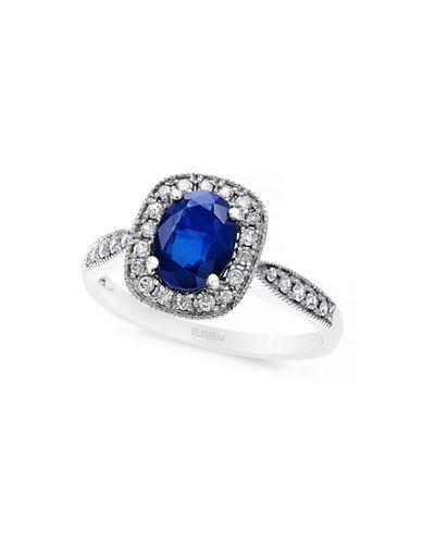 EFFY14K White Gold Sapphire and Diamond Ring
