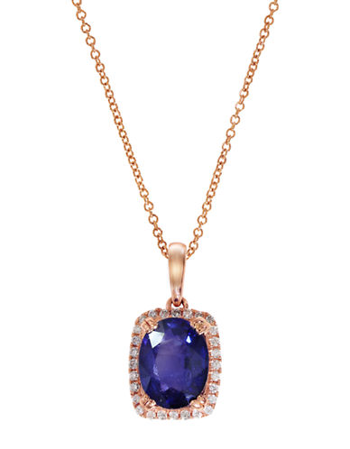 EFFY 14Kt Sapphire and Diamond Pendant Necklace