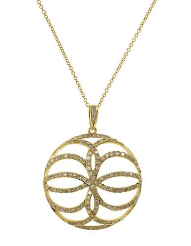 EFFYDoro 14K Yellow Gold Diamond Pendant Necklace