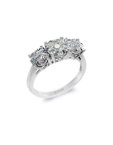 EFFY14K White Gold Three Stone Diamond Ring