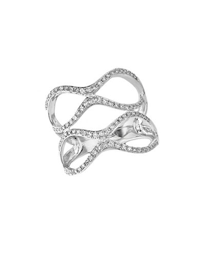 EFFY Pave Classica Diamond and 14K White Gold Double Ring