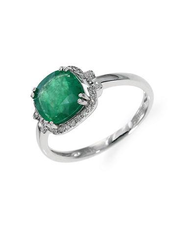 EFFYEmerald Diamond and White Gold Ring