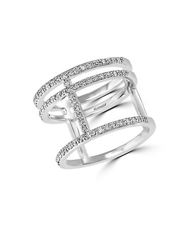 EFFY Diamond and 14K White Gold Triple Ring