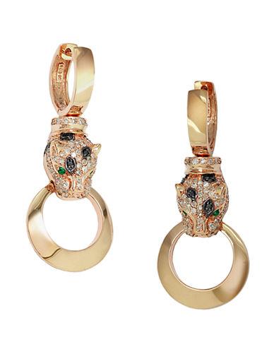 EFFYDiamond, Emerald And 14K Rose Gold Drop Earrings, 0.74 TCW
