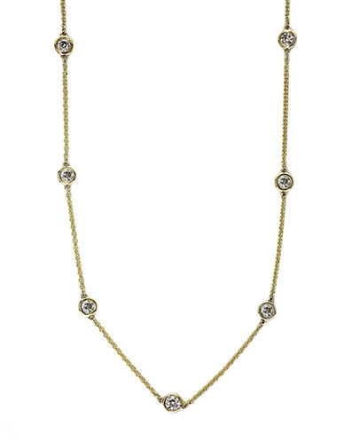 EFFYTrio Diamond Necklace in 14 Kt Yellow Gold