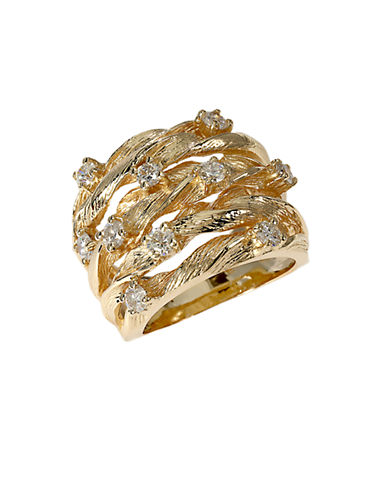 EFFY Diamond And 14K Yellow Gold Ring, 0.98 TCW