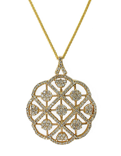 EFFYDiamond And 14K Yellow Gold Pendant Necklace, 2.08 TCW