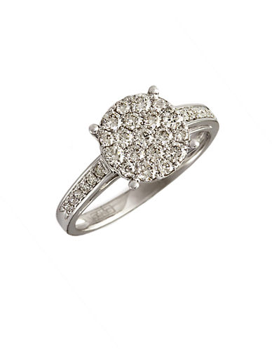 EFFYBouquet Diamond Ring in 14 Kt White Gold