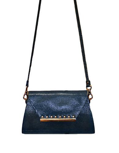 BADGLEY MISCHKALizard Embossed Leather Shoulder Bag