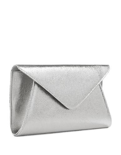 LA SERAAbigail Metallic Envelope Clutch