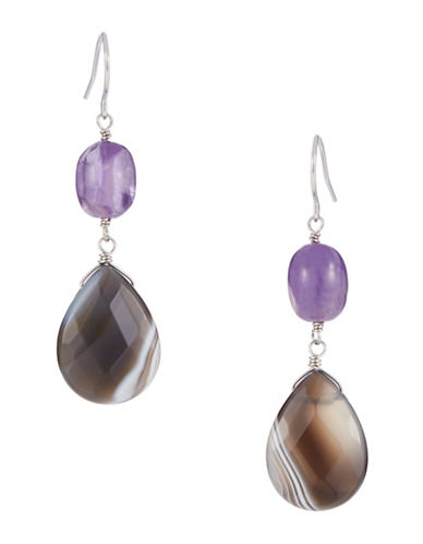 LORD & TAYLOR Stone Accented Drop Earrings