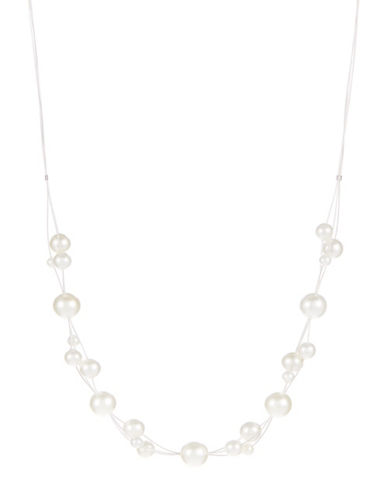 LORD & TAYLOR Faux Pearl Illusion Necklace