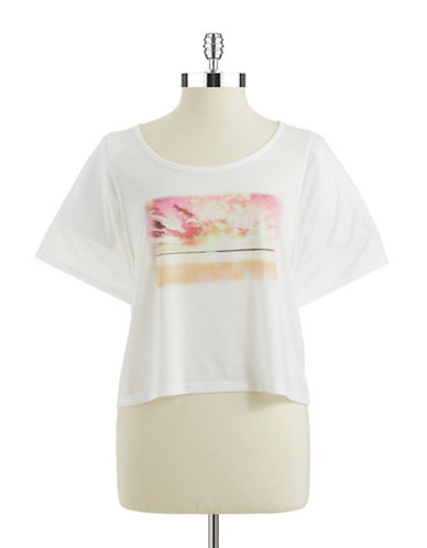 JESSICA SIMPSONCropped Graphic Tee