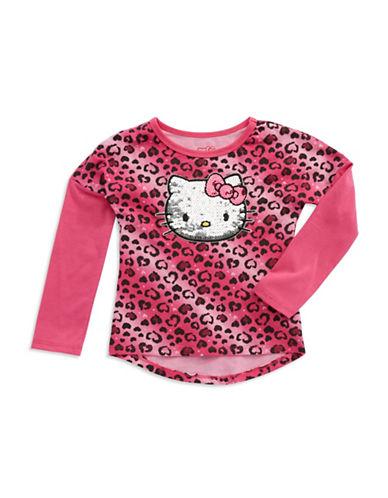 HELLO KITTYGirls 2-6x Hello Kitty Animal Print Tee