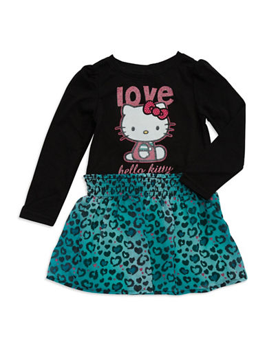 HELLO KITTYGirls 2-6x Animal Print Hello Kitty Dress