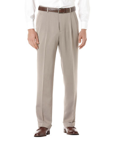 PERRY ELLISBig And Tall Micro Melange Pleated Pants