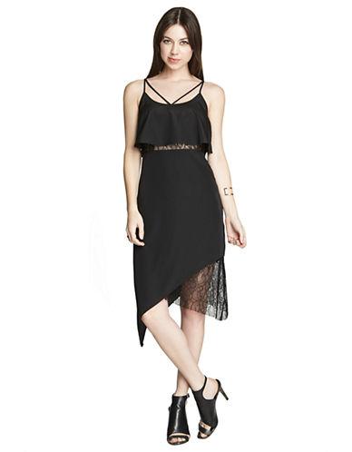 BCBGENERATIONAsymmetrical Lace Dress