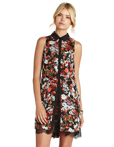 BCBGENERATIONFloral Print Sleeveless Dress