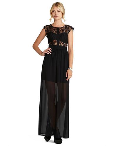 BCBGENERATIONLace Grosgrain Maxi Dress