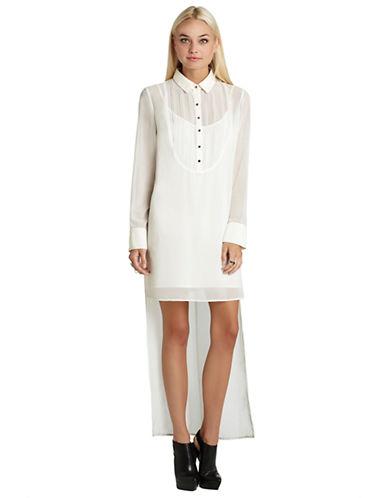 BCBGENERATIONChiffon Overlay High Low Shirt Dress
