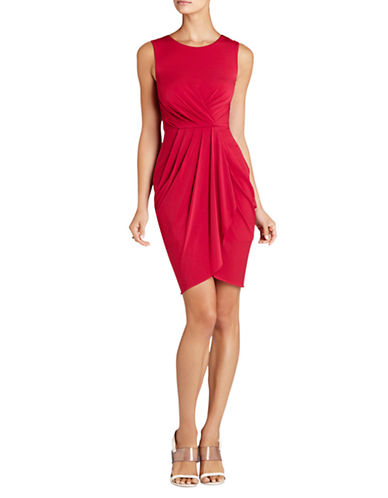 Shop Bcbgmaxazria online and buy Bcbgmaxazria Kaia Sleeveless Pleated Front Dress dress online