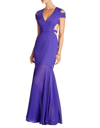 Bcbgmaxazria Silk Cutout Gown