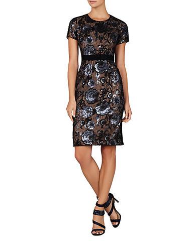 BCBGMAXAZRIAKristan Floral Sequined Shift Dress