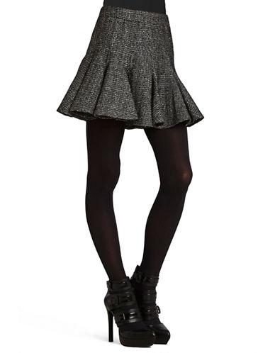 BCBGENERATIONMetallic Tweed Skater Skirt