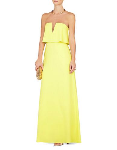 Shop Bcbgmaxazria online and buy Bcbgmaxazria Alyse Strapless Popover Maxi Dress dress online