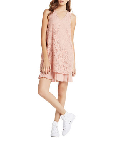 pink lace dress lord taylor