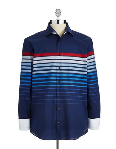 BUGATTIStriped Button-Down Shirt
