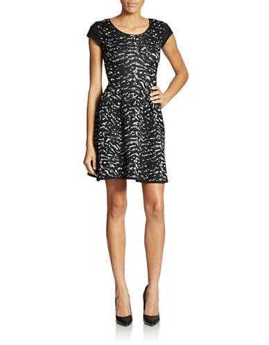 JESSICA SIMPSONEsther Metallic Stretch Knit Dress