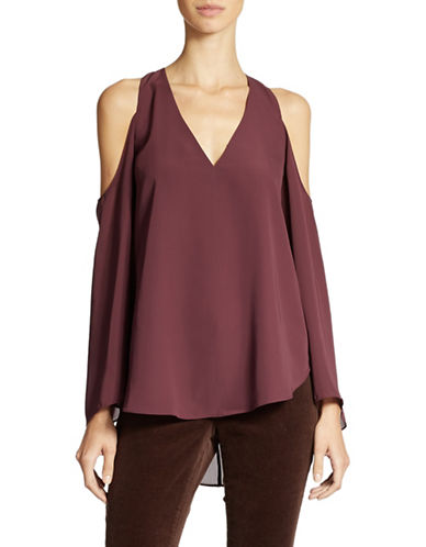JESSICA SIMPSON Rosey Cutout Shoulder Blouse