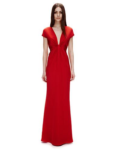 Silk Crepe Gown $208.50 AT vintagedancer.com
