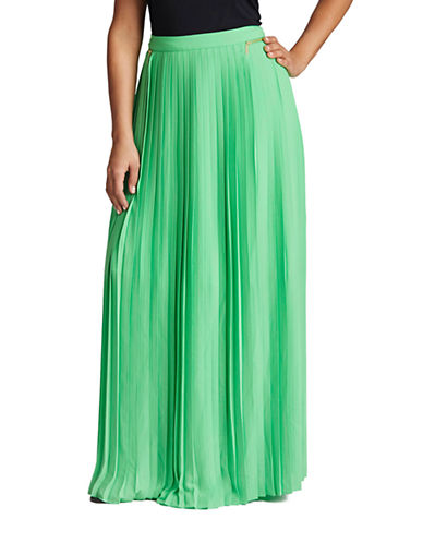 Pleated Maxi Skirt plus size,  plus size fashion plus size appare