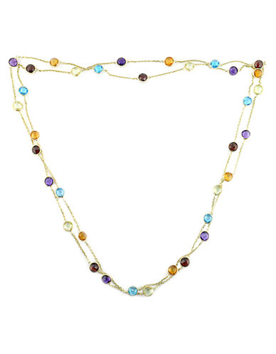 EFFY14 Kt. Yellow Gold Multi Colored Gemstone Station Necklace