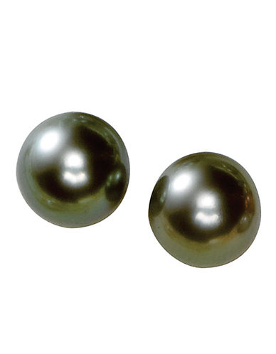 14 Kt. White Gold Tahitian Pearl Stud Earrings