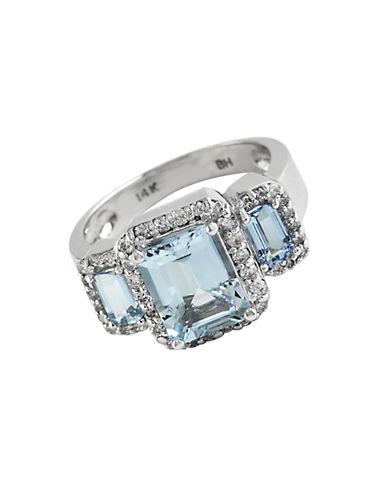 EFFYAquamarine, Diamond And 14K White Gold Ring
