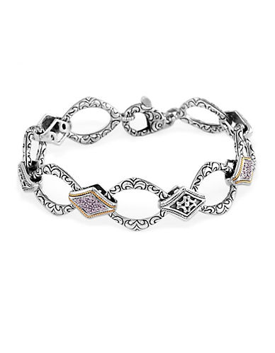 EFFYBalissima Diamond Accented Bracelet in Sterling Silver with 18 Kt. Yellow Gold