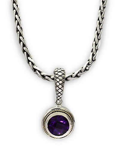 EFFY Balissima Amethyst Necklace in Sterling Silver with 18 Kt. Yellow Gold