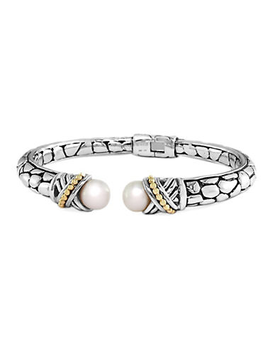 EFFY Balissima Pearl Bracelet in Sterling Silver with 18 Kt. Yellow Gold