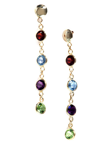 EFFY 14Kt. Yellow Gold Multi-Colored Drop Earrings