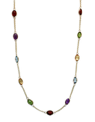 EFFYMulti Colored Stone Necklace in 14 Kt. Yellow Gold