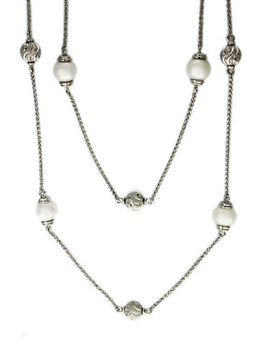 EFFY Freshwater Pearl Station Necklace in Sterling Silver