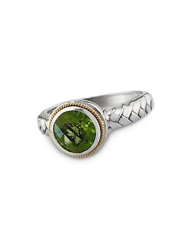EFFYBalissima Peridot Ring in Sterling Silver with 18 Kt. Yellow Gold
