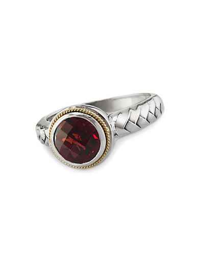 EFFYBalissima Garnet Ring in Sterling Silver with 18 Kt. Yellow Gold