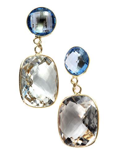 EFFY14Kt. Yelllow Gold Multi Colored Drop Earrings